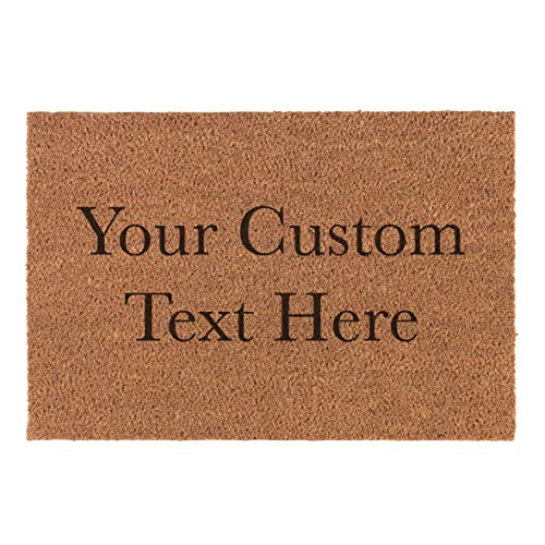 """Personalized Custom Your Text Here Natural Fiber Laser Engraved Doormat - Gifts for Him, for Her, for Boys, for Girls, for Husband, for Wife, for Them, for Men, for Women, for Kids (35"""" Length)"""