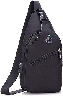 Mens Bag Shoulder Bag Backpack Men And Women Sports Outdoor Gym Tourism Hiking With USB Charging Port Chest Shoulder Bag Casual Messenger Bag High capacity