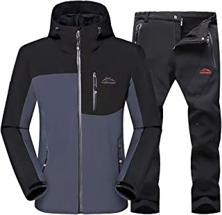 Men's Jacket Mountain Pants Waterproof Ski Jacket Windproof Coat Warm Winter Snow Rain for Camping Hikng Travel Rock Climb...