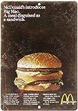 McDonald's Big Mac Blechschilder Dekoration Retro Vintage