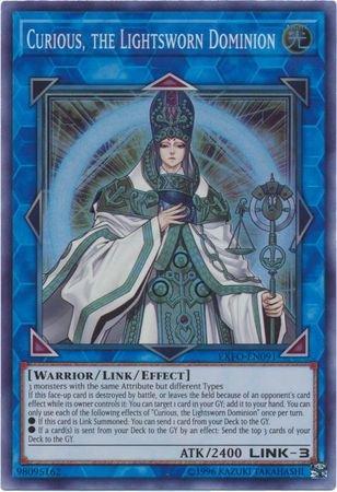 Curious, The Lightsworn Dominion - EXFO-EN091 - Super Rare - Unlimited Edition