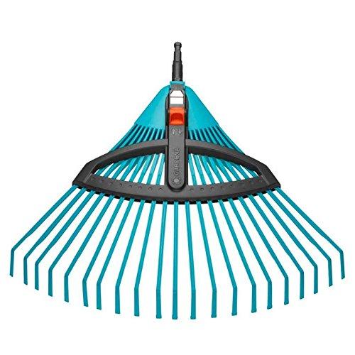 Balai à gazon réglable Combisystem de GARDENA : balai avec dents élastiques réglables en...