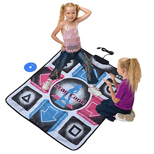Zopsc Non-Slip Durable Wear-Resistant Dancing Step Dance Mat Pad Dancer Blanket with USB for PC with Highly Sensitive Chip, and Adopt PVC Material etc
