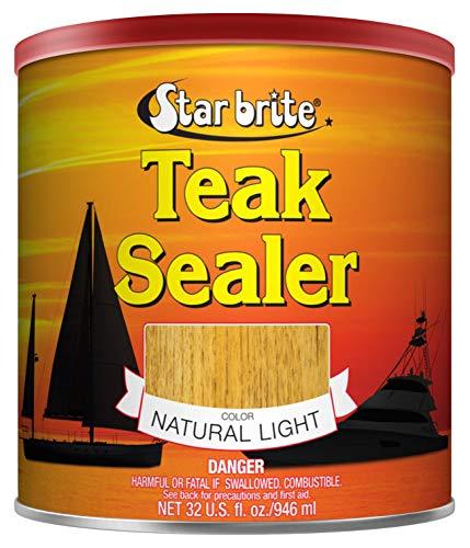 Star brite Teak Sealer - No Drip, Splatter-Free Formula - One Coat Coverage for All Fine Woods , 32...