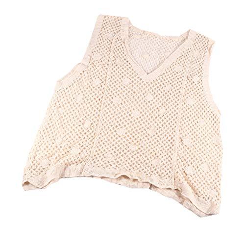 KESYOO Beach Crochet Top sin Mangas de Punto Bikini Cover up Summer Beach Cami Crop Top Camisola para Mujeres Niñas