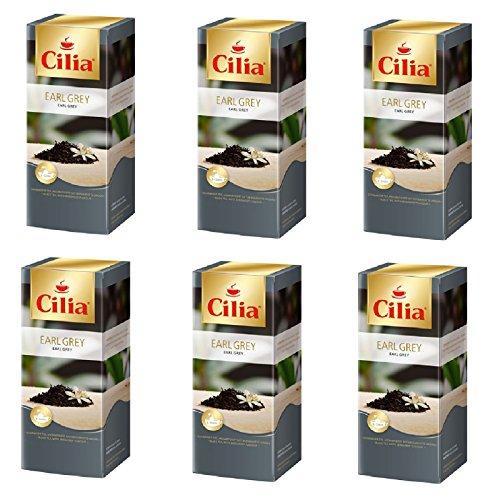 Melitta Cilia Earl Grey Schwarzer Tee 6 Packungen je 25 x 1,75g Teebeutel