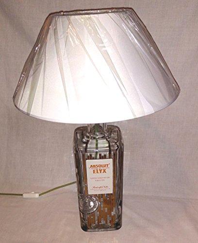 Lámpara de mesa de Absolut Vodka Botella Elyx 3 litros vacía reutilización creativa reciclaje regalo idea muebles