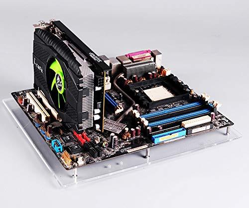 PC オープンフレーム テストベンチ 透明 アクリル オーバーロック コンピュータ ケース ATX マザーボード用 DIY 検証用まな板 ベーススタンド