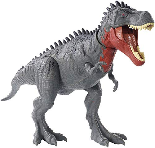 Jurassic World Massive Biters Tarbosaurus Larger-Sized Dinosaur Action Figure with Tail-Activated Strike and Chomping Action Movable Joints Movie-Authentic Detail; Ages 4 and Up