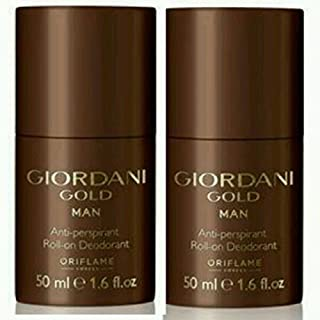 Oriflame Giordani Gold Man Anti-Perspirant Roll On Deodrant (Pack Of 2) 50G Each