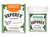 Vaporex Medicated Chest Rub, with Camphor, Menthol and Eucalyptus Essential Oil, Made in USA, 2 OZ.