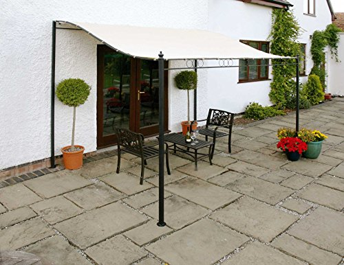 Wall Mounted Canopy Gazebo 3 Metre Easy Fit Sunshade Awning For Patio Decking Terrace Removeable Canopy Cover