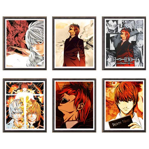 MS Fun Impresiones de arte de anime digital de tela colorida clásica para decoración, juego de 6 piezas, 8 x 10 pulgadas, sin marco