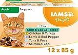 IAMS Delights Gato Adulto Colección Tierra y Mar en Salsa [1,02 kg]