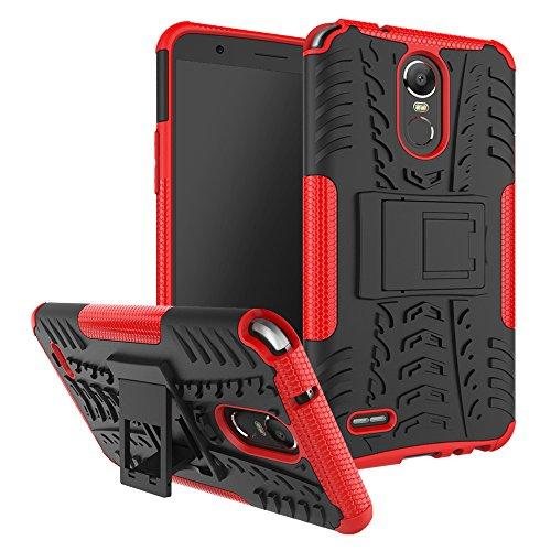 Capa para LG K10 Pro à prova de choque, capa híbrida para LG K10 Pro, proteção de camada dupla à prova de choque, capa rígida híbrida resistente com suporte para LG K10 Pro de 5,7 polegadas [não serve para LG K10 ou LG K10 (2017)]