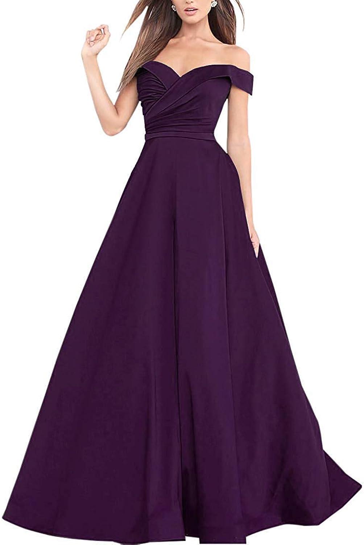 Emerald OffTheShoulder Formal Evening Gown Princess Prom Dresses Long Skirt