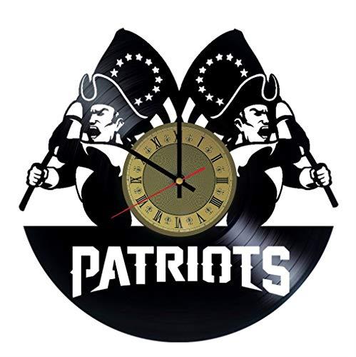 Patriots Vinyl Clock | | Best Gift for Football Fans | Original Wall Home Decor