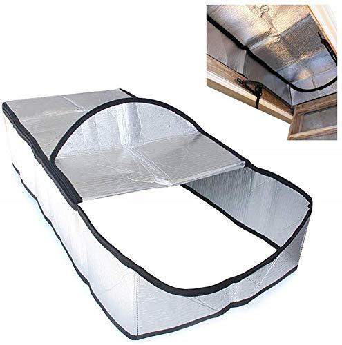 Envisioni Dachboden-Abdeckung, isoliert, mit Scharnier, einfach zu bedienen.