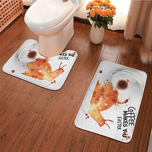 Juego de 2 alfombras de baño antideslizantes, diseño de temporada de otoño con taza de café de cacao…