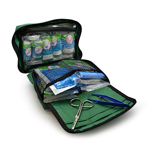 Das 90-teilige Premium-Kit enthält Augenspülung, 2 x Kälte- (Eis-) Packs und eine Notfalldecke für Zuhause, Büro, Auto, Wohnwagen, Arbeitsplatz, Reise - Erste-Hilfe-Kit-Tasche aus Astroplast