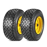 325/50R15 Tires - 2 Pcs 16x6.50-8 Front Tires and Wheels Assembly for Lawn Mower Tractors, 3