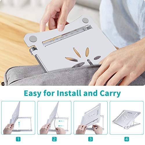 Laptop Ständer OMERIL Mehrwinkel höhenverstellbarer Ständer,Faltbarer Aluminium Notebook ständer, Wärmeableitung, Laptop Stand geeignet für 9-17-Zoll-Notebooks /Tablets, MacBook, HP,Samsung