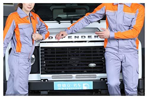 Bfrdollf Ropa de Trabajo Ropa de Trabajo Hombres Mujeres Trabajo Chaqueta Taller Coche Condición de Aire Agua Electricidad Instalación Reparador mecánico Uniformes Tops (Color : Yellow, Size : Small)