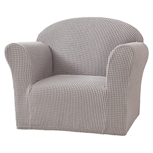 NLCYYQ Kids Sofa Cover Stretch Children's Sofa Slipcovers Soft Childs Armchair, Cover Furniture Protector for Children Toddlers Baby Sofa (Gray)