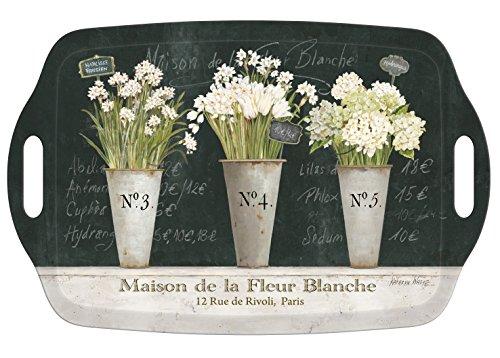 I Style Les Fleurs Plateau à thé avec poignée, en mélamine, Multicolore