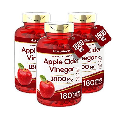 Apple Cider Vinegar 1800mg | 540 Capsules | High Strength Weight Loss Formula | Non GMO, Gluten Free & Vegan | by Horbaach