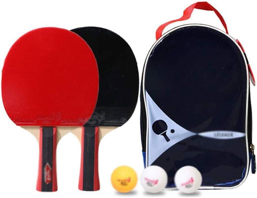 Ping Pong Paddle Set, Mesa de ping pong Paletas / raquetas Incluye paquete de 2 Professional Premium paletas de ping-pong, tenis de mesa: 3, caja de almacenamiento de primera calidad avanzada Inicio c