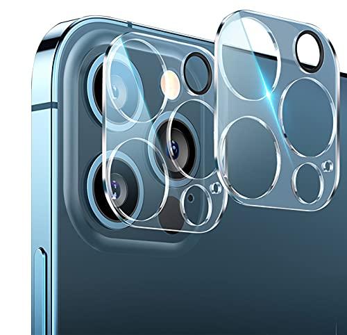 For iPhone13Pro / iPhone13pro max 用 カメラフィルム レンズ保護 フラッシュ穴に黒ゴム 露出オーバー防止 日本旭硝子製 二重強化ガラス 硬度10H キズ防止 高透明度 カメラ全体保護 2枚セット