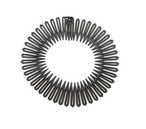 Flexible Headbands Stretch Headband Headbands Women (3pc-Black)