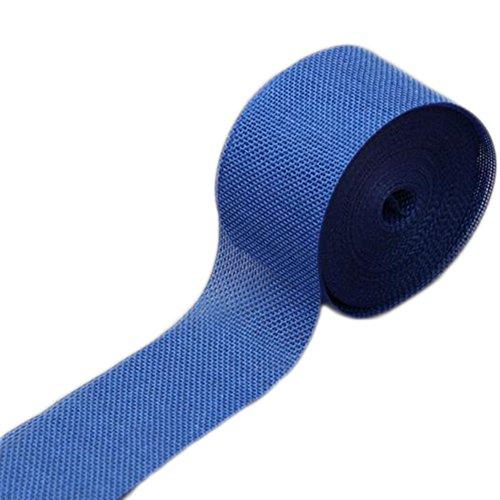 MoGist - Rollo de cinta de yute de arpillera natural, 10 m, para manualidades, ramos de tartas, bodas, fiestas, decoración de Navidad, Azul oscuro., 10m*5cm