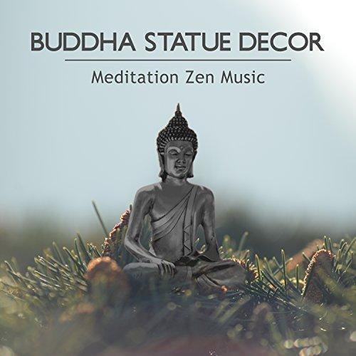 Buddha Statue Decor - Meditation Zen Music, Stress Less Therapy & Healing Music, New Beginnings, Take a Deep Breath, Ocean Waves, Rain and Beautiful Garden Sounds