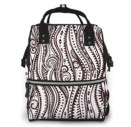UUwant Sac à Dos à Couches pour Maman Large Capacity Diaper Backpack Travel Manager Baby Care Replacement Bag Nappy Bags Mummy Backpack?Tribal Vintage Ethnic Pattern Seamless Vector Image ?