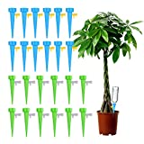 Plant Self Watering Spikes Vacation Automatic Plant Waterer Drip Irrigation Slow Release Device Potted Plants Watering Tool with Slow Release Switch Control Valve Care Your Plants and Flowers (24pcs)