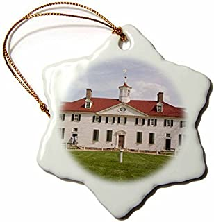 Christmas gift USA, Washington DC, George Washington Mt Vernon US09 LFO0179 Lee Foster Snowflake Ornament, Porcelain