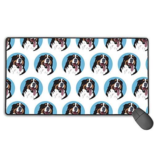 Lustige Berner Sennenhund Gesicht Schreibtisch Pad Mauspad/Matte Wasserdicht glatt glatt Gaming Mauspad Desktop Pad Laptop Pad für Büro und Zuhause