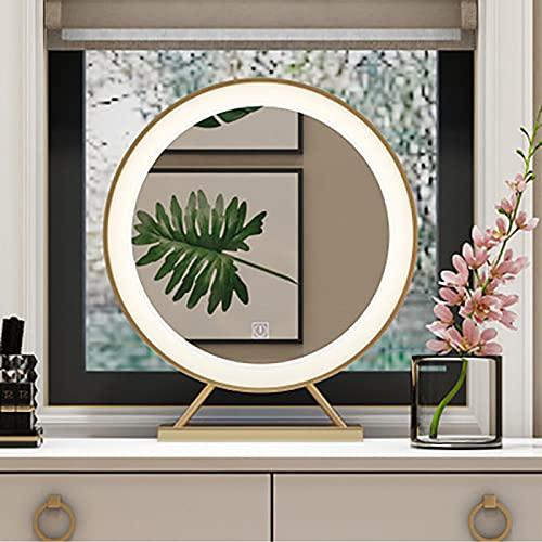 LKJHG Espejo con Luz - Luminaria De 3 Colores Ajustable Tablero De Tocador, para Vestidor, Dormitorio, Escritorio, Baño