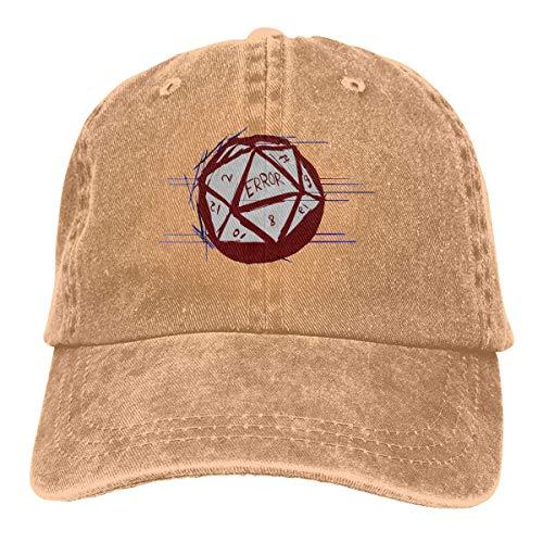 Gaoxiang Trucker Cap D20 Dice Roll Error Durable Baseball Cap Hats Adjustable Dad Hat Black Deaign22992