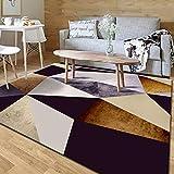 Alfombra de Salón Cuadrícula de Color 14 Alfombra Pelo Corto Tendencia Pastel Diseño Comedor Juvenil Diseño Moderno Sala de Estar, Dormitorio, habitación Infantil.160x230 cm