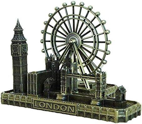 DeerBird Retro City Bronze London Eye Big Ben Tower Bridge UK Model Decor Metal Statue Figurine product image