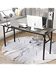 sogesfurniture Computer Desk Office Desk 47 inches Folding Table Laptop Desk Computer Table Workstation with BIFMA Certification No Assembly Required,Black BHCA-AC5CB-120