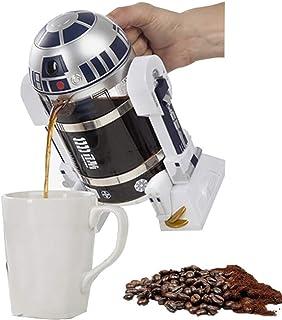 Star Wars Figuras de acción Modelo Vidrio Botella de almacenamiento de agua Robot Colección Cafetera Máquina Aislante Olla Ventilador- Incluye vidrio, 960ML / 32.5oz