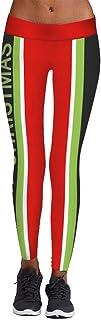 Qootent Christmas Women Leggings Yoga Pants Elastic Pencil Pant Casual Trousers