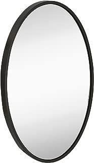 Hamilton Hills Clean Large Modern Black Oval Frame Wall Mirror | 24