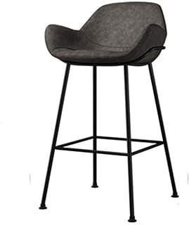 Juegos para sillas de respaldo alto Silla de ofici Nordic Estilo creativo con estilo simple barra de taburetes de metal multifuncional moderna del contador de cocina Sillas ajustes for Cafetería conta