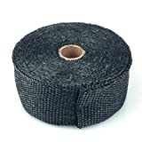 Hitzeschutz, Band, Hitzeschutzband Glasfaser Gewebe, bis 600 Grad, 10 m Rolle, schwarz, Auspuffanlagen, Fächerkrümmer