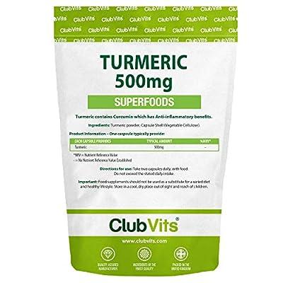 Club Vits - Turmeric (Curcumin) - 90 Capsules from Club Vits